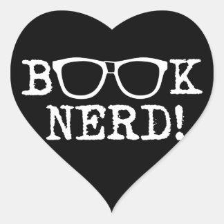 Book Nerd Heart Sticker