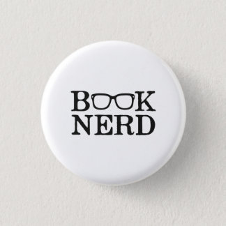 Book Nerd Nerdy Glasses 3 Cm Round Badge