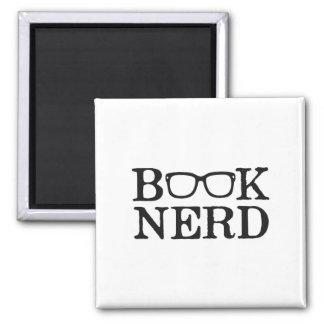 Book Nerd Nerdy Glasses Square Magnet