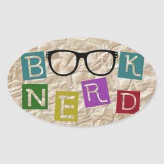 Book Nerd Oval Sticker