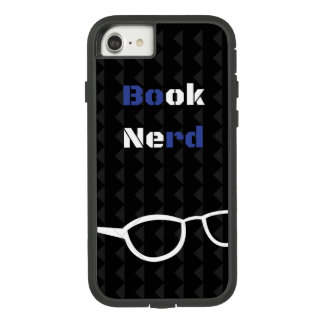 Book Nerd phone case black blue and white