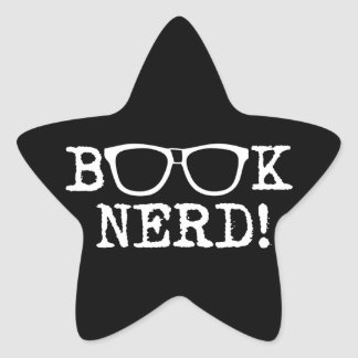 Book Nerd Star Sticker