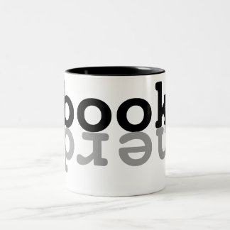 Book nerd Two-Tone coffee mug