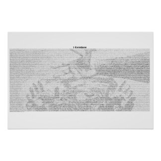 Book of 1 Corinthians (complete KJV text) Poster