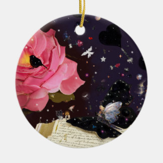 Book of fairy tales ceramic ornament