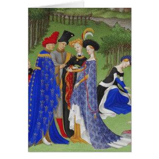Book of hours medieval ladies & lords version 2 card