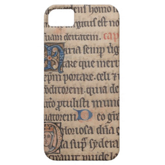 Book of Hours Medieval Latin Writing iPhone 5 Case