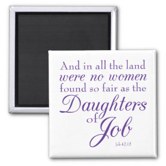 Book of Job Bible Verse Square Magnet