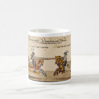 Book painting the Middle Ages knight duel late cen Coffee Mug