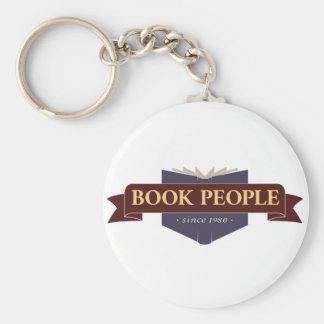 Book People Round Keychain