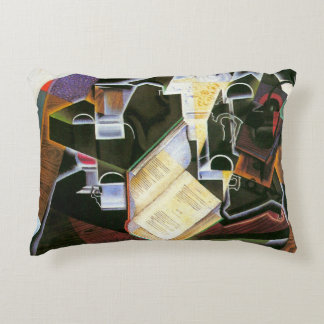 Book, Pipe and Glasses, Juan Gris, Vintage Cubism Decorative Cushion