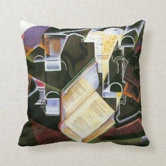 Book, Pipe and Glasses, Juan Gris, Vintage Cubism Throw Pillow