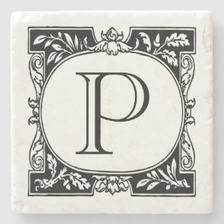Book plate Monogram Stone Coaster