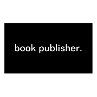 Book Publisher Pack Of Standard Business Cards