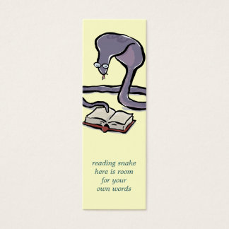 book reading cobra bookmark with your own words mini business card