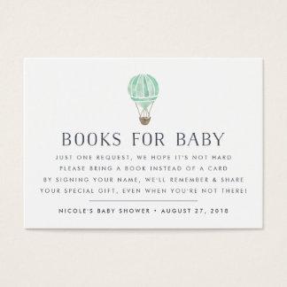 Book Request   Balloon Baby Shower Insert Card