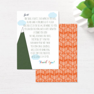 Book Request | Let the Adventure Begin Baby Shower Business Card