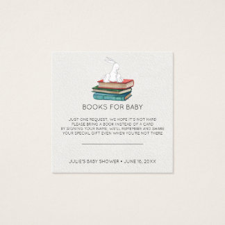 Book Request | Little Bunnies Baby Shower Insert