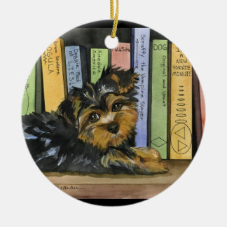 Book Shelf Cutie Ceramic Ornament