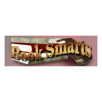Book Smarts Bookmarkers Pack Of Skinny Business Cards