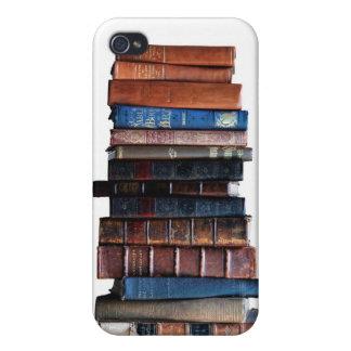 Book Stack, antique Books  iPhone 4 Cases