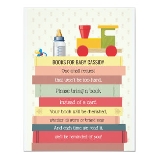 Book Stack Bring a Book Baby Shower Card