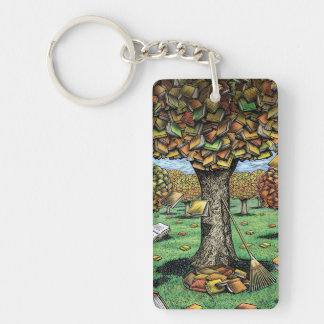 Book Tree Key Chain