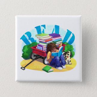Book Wagon 15 Cm Square Badge