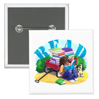 Book Wagon 15 Cm Square Badge