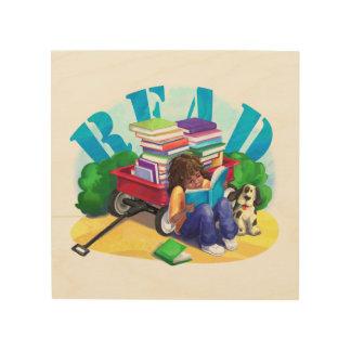 Book Wagon Wood Prints