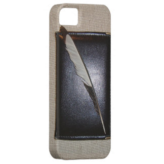 Book wild duck feather case for the iPhone 5