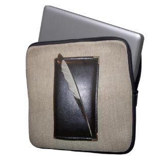 Book wild duck feather laptop sleeve