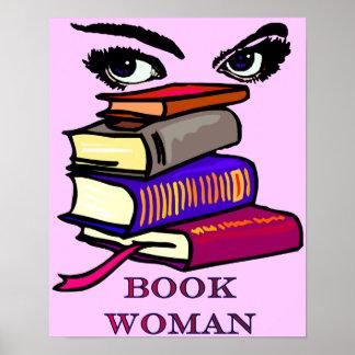 Book Woman Print