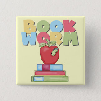 Book Worm Tshirts and Gifts 15 Cm Square Badge