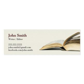 Book Writer Editor business card