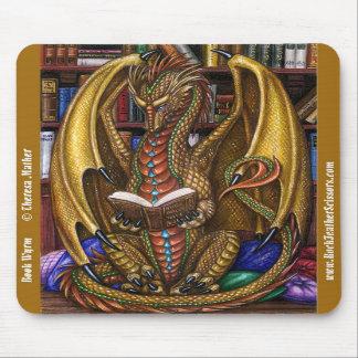 Book Wyrm Reading Dragon Mousepad