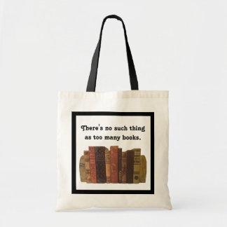 Bookaholic humor budget tote bag