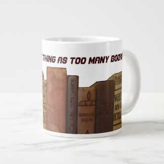 Bookaholic humor large coffee mug