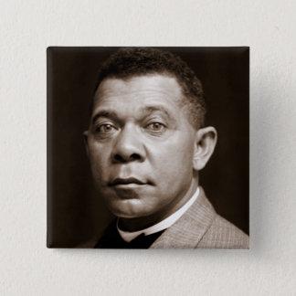 Booker T Washington, African American Civil Rights 15 Cm Square Badge