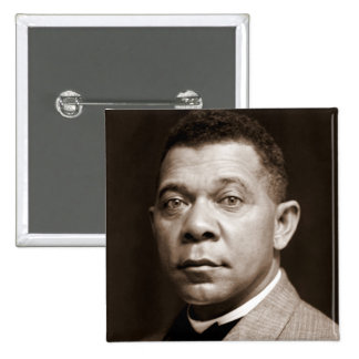 Booker T Washington, African American Civil Rights 15 Cm Square Badge