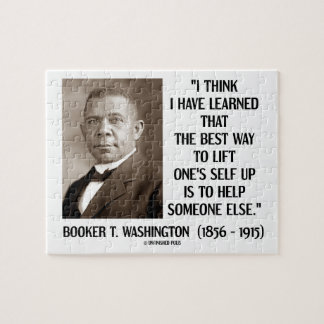 Booker T. Washington Best Way Lift One's Self Up Jigsaw Puzzle