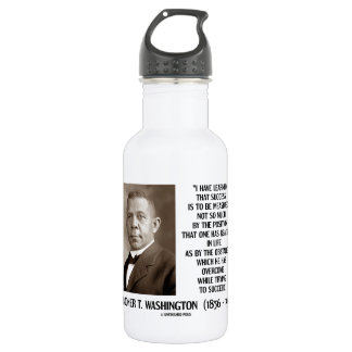 Booker T. Washington Obstacles Overcome Succeed 18oz Water Bottle