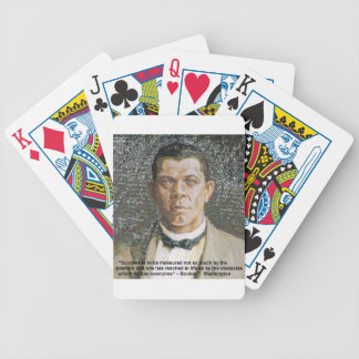 Booker T Washington & Success Quote Bicycle Playing Cards
