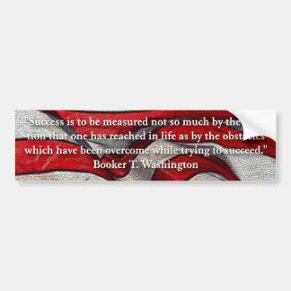 Booker T Washington Success Quote Bumpersticker Bumper Sticker