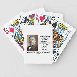 Booker T. Washington World Cares Very Little Great Poker Deck