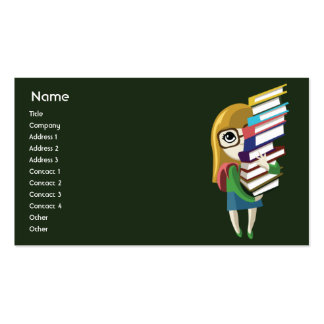 Bookgirl - Business Pack Of Standard Business Cards