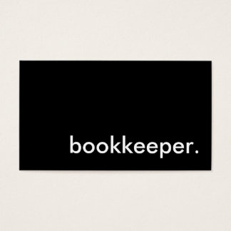 bookkeeper. business card