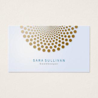 Bookkeeper Business Card Circle Dots Motif