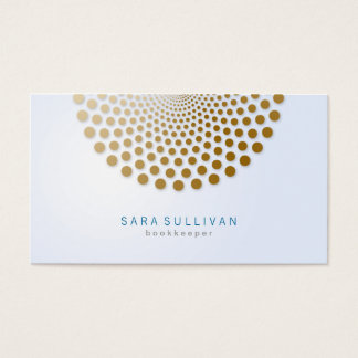 Bookkeeper Business Card Circle Dots Motif