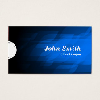 Bookkeeper - Modern Dark Blue Business Card